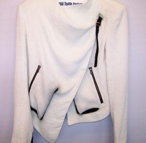 Helmut Lang Ladies Jacket - Leather Trim Bleed 001